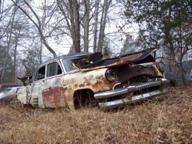 A car from the Thompson junkyard in Culpeper, VA.