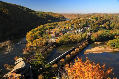 A view of Harpers Ferry from Maryland Heights