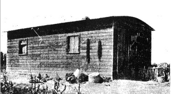 A shack belonging to a subject family in the North Platte Valley report