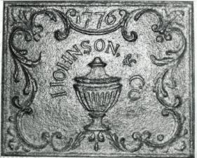 1776 James Johnson fireback Catoctin Furnace