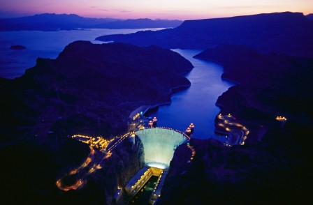 Hoover Dam in Twilight