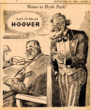 la times cartoon its spelled hoover